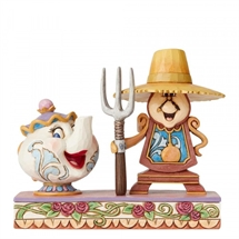 Jim Shore Disney Traditions - Workin Round the Clock (Mrs Potts and Cogsworth)