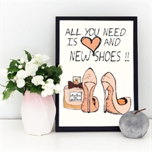 Mouse and Pen - All You Need Is Love and New Shoes A4