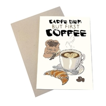 Mouse and Pen - Coffee Carpe Diem A4