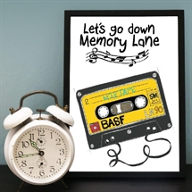 Mouse and Pen - Let's Go Down Memory Lane A4