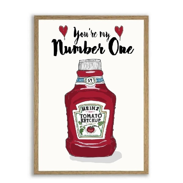 Mouse and Pen - Heinz You\'re My Number One A4