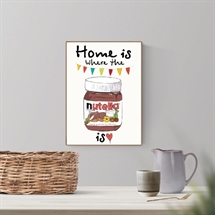 Mouse and Pen - Home Is Where the Nutella Is A4