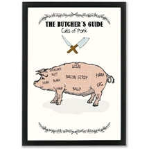 Mouse and Pen - The Butchers Guide/PORK  A3