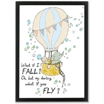Mouse and Pen - What if I fall - oh my darling what if you fly? A4